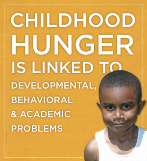 Childhood hunger is linked to developmental, behavioral & academic problems